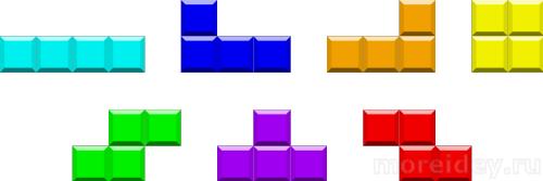 Фигурки - кирпичики из игры в тетрис