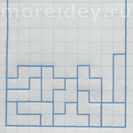 Игры на листе бумаги: тетрис (2 варианта)