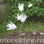 Поделки для сада и огорода: цветы эдельвейсы