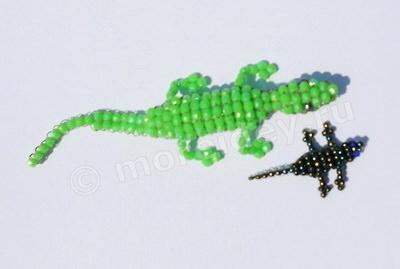 Бисероплетение: ящерица из бисера своими руками в технике параллельного плетения