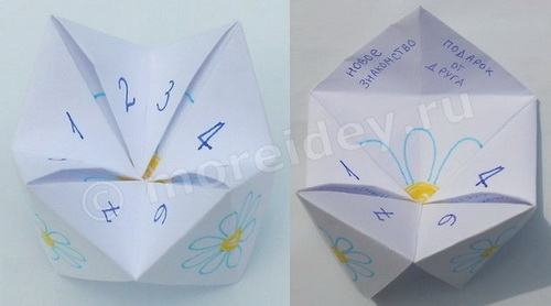 Оригами гадалка из бумаги