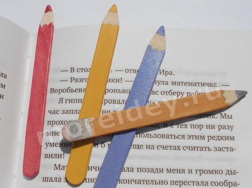 Поделки к 1 сентября и поделки на тему школа: закладки - карандаши