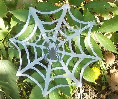 Поделка паук на паутине из бумаги своими руками