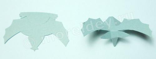 простая объемная поделка летучая мышь из бумаги своими руками