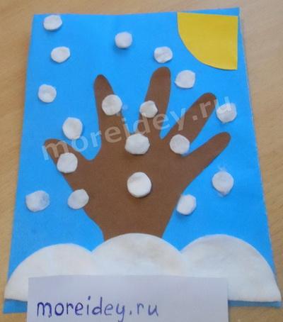 Поделки из ладошки для детей схемы