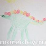 Динозавры - рисунки ладошками