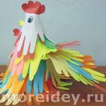 Птицы — поделки и рисунки из ладошек — 2