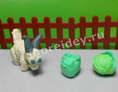 коза из пластилина поделка