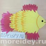 Морские животные – поделки и рисунки из ладошек — 2