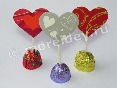 конфеты с сердечками своими руками