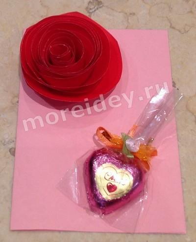 Открытки с цветами розами своими руками ко Дню Матери