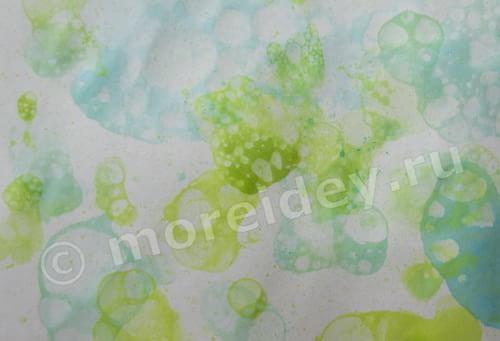 рисование мыльными пузырями для детей