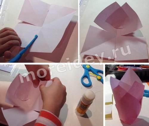 как делать поделки из цветной бумаги цветы