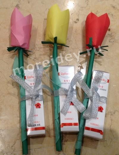 Поделка цветы - подарок воспитателям в детский сад своими руками