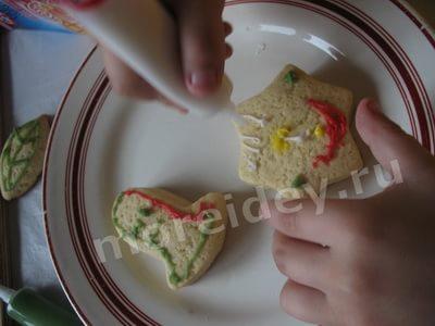 как украсить домашнее печенье