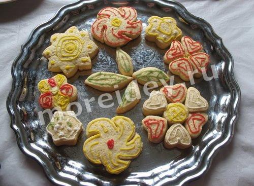 домашнее печенье в форме цветов