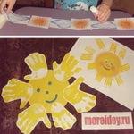 Поделки и тематическое занятие на тему Весеннее солнышко