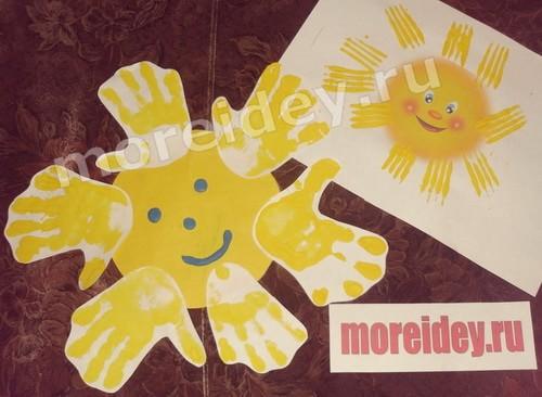 Тематическое занятие, поделка и рисунок на тему Весеннее солнышко