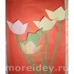 аппликация с элементами оригами