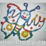 рисование солью в детском саду