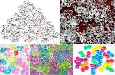 замочки клипсы застежки для браслетов и плетения из резиночек