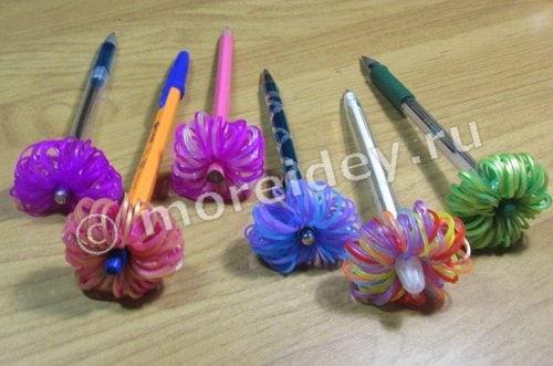 Фигурки из резинок на ручки и карандаши мастер-класс
