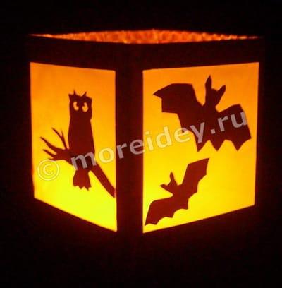 как сделать фонарик на хэллоуин из бумаги