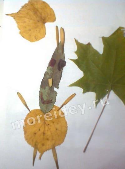 картины из листьев для детей