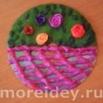 Корзина с цветами - поделка ко дню матери своими руками
