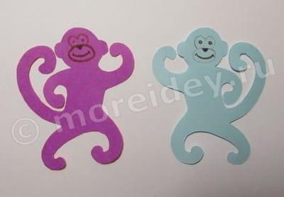 поделка обезьянка своими руками из бумаги