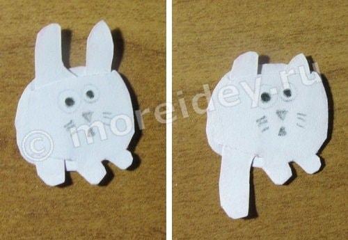 как сделать кота зайца из мультика бумажки