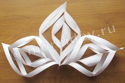 снежинка из бумаги объемная как делать