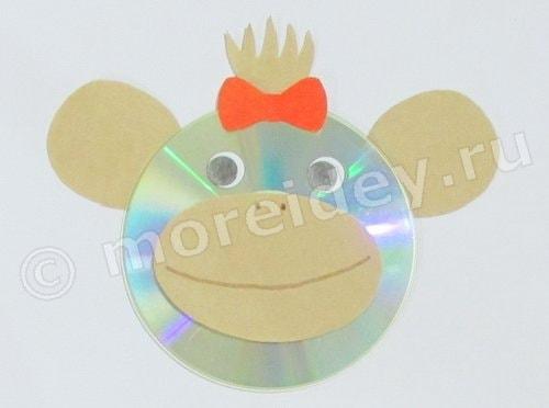 поделки из дисков обезьяна