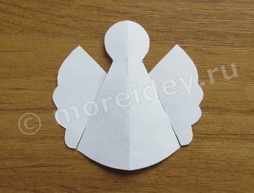 поделки из ватных дисков ангел