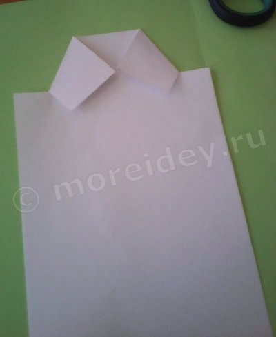 как сделать открытку мундир из бумаги