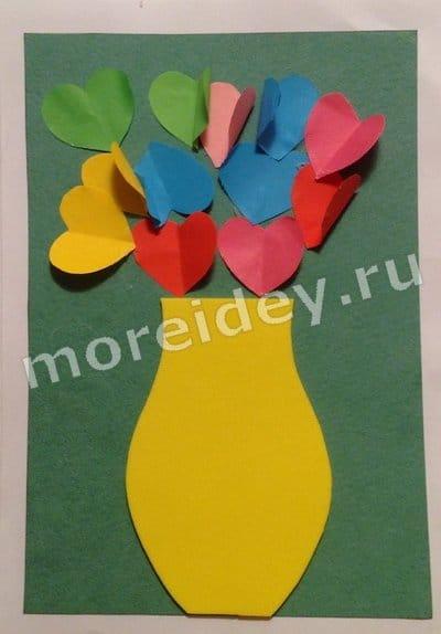 поделки из бумаги 8 марта для детей