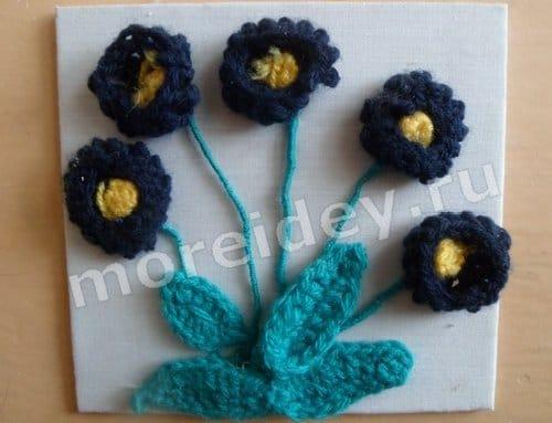 вязание цветы фото