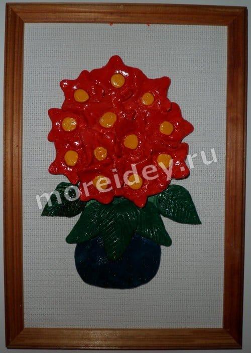 Поделки к 8 марта своими руками: панно цветы из соленого теста