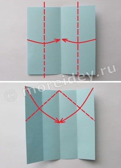 ракета оригами схема