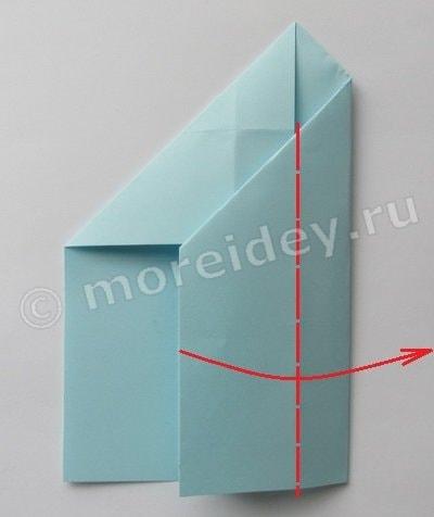 оригами ракета пошаговая инструкция