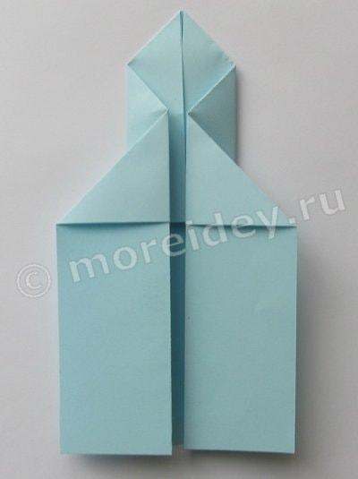 оригами из бумаги ракета схема