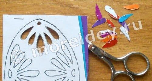 как сделать ажурное яйцо из бумаги