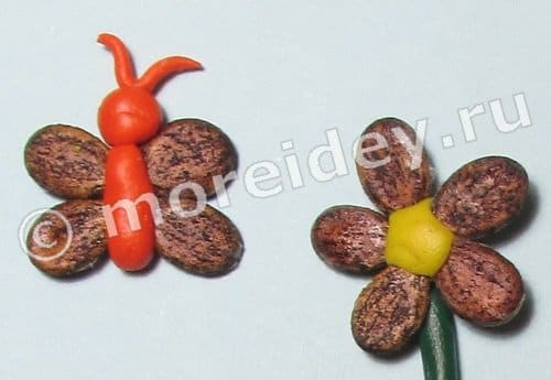 Поделки из арбузных семечек