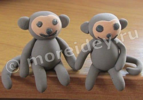 объемные поделки обезьянки