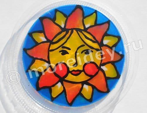 Солнышко - витраж
