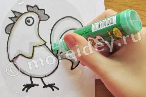 как рисовать витражными красками