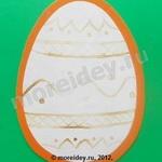 Поделка к Пасхе - яйцо в нетрадиционной технике рисования