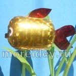 Золотая рыбка из контейнера от киндер-сюрприза