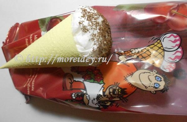 поделка мороженое, игрушечное мороженое своими руками, как сделать поделку мороженое, поделки из салфеток