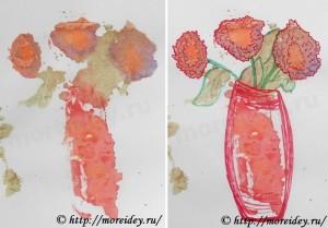 Монотипия для детей, как сделать монотипию, монотипия картинки